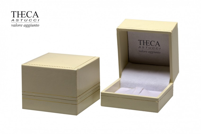 Jewelry box Wrapped boxes Thecaplus Thecaplus ring 60x60x45 ivory