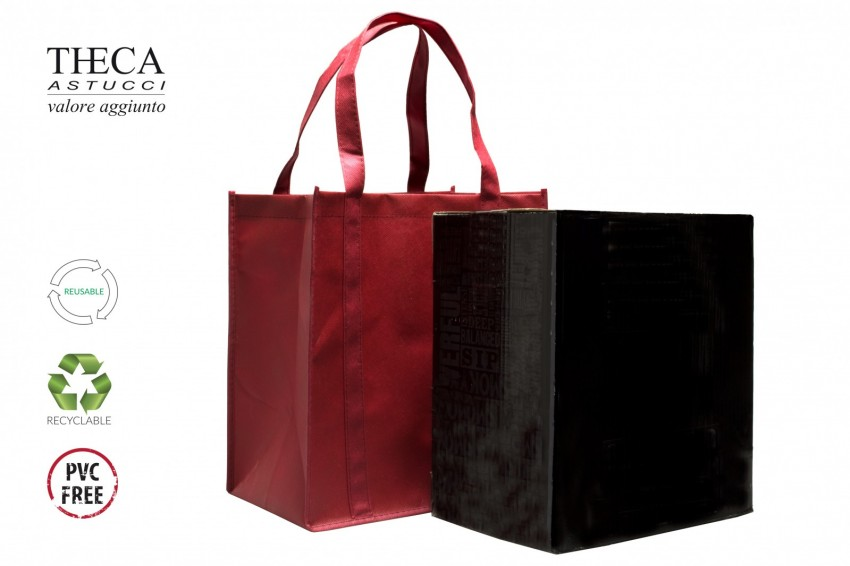 Wine packaging No woven shopping bag Likes shopper Likes shopper six bottles 32+22x35 red