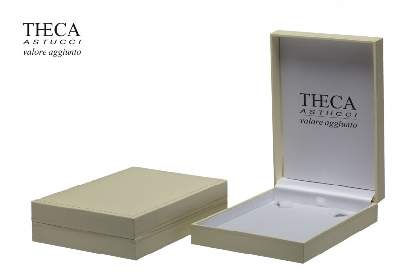 Jewelry boxes Jewelry box premium Theca Theca presentation box for necklace 112x159x37 ivory