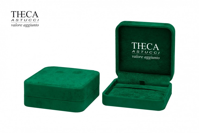 Jewelry boxes Jewelry box luxury Corfu Corfu presentation box for pendant 89x88x33 green