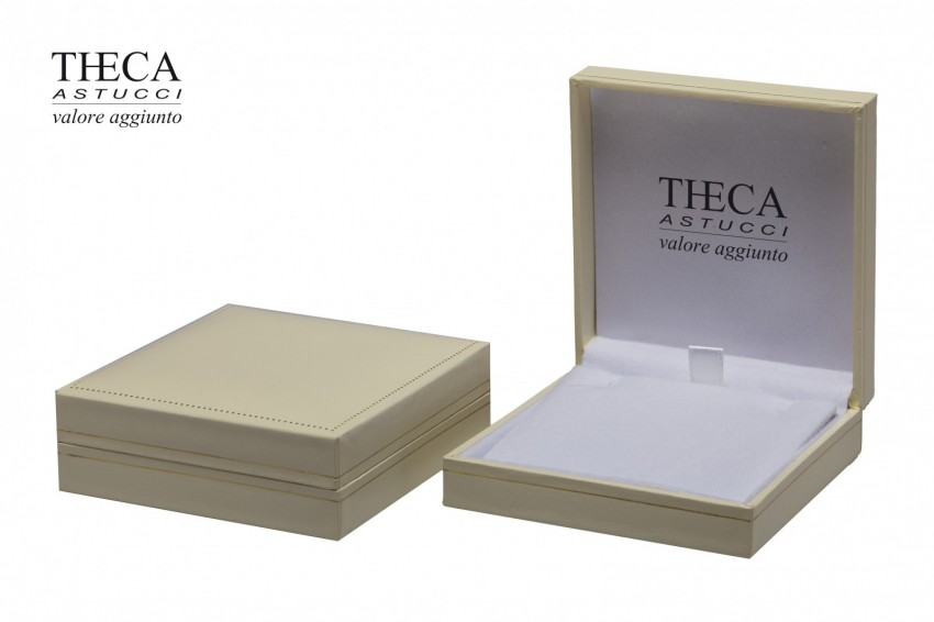Jewelry box Wrapped boxes Thecaplus Thecaplus pendant 85x92x32 ivory