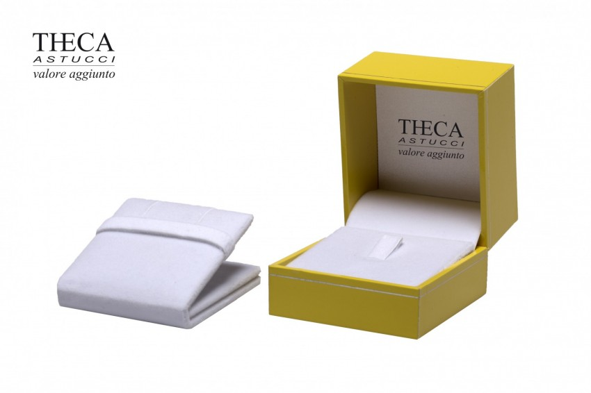 Presentation boxes Badget presentation boxes Outlet Outlet presentation box for ring earring 61x66x53 yellow
