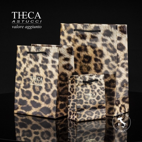 Gift bags / Jewelry gift bags / Leopard shopper