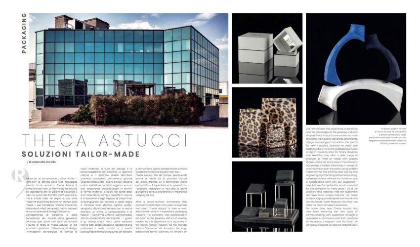 l'Orafo Italiano Magazine says about us ..